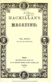 Macmillan's Magazine may 1877